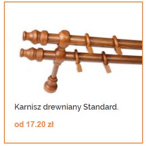 Karnisz drewniany standardowy